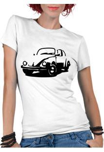 Camiseta Criativa Urbana Fusca Carro Antigo Clássico Branco