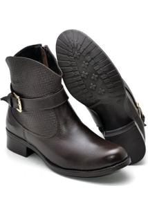 Bota Country Top Franca Shoes Montaria Feminina - Feminino-Cafe