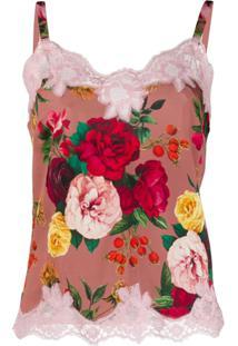 Dolce & Gabbana Underwear Blusa Com Estampa De Rosas