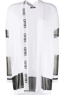 Liu Jo Cardigã Oversized Com Recorte Translúcido - Branco