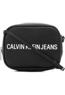 Calvin Klein Jeans Bolsa Carteiro Com Gravação De Logo - Preto