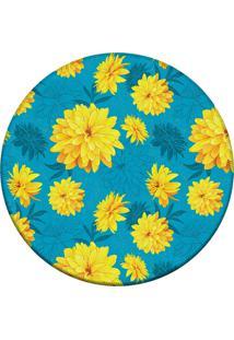 Tapete Love Decor Redondo Wevans Beautiful Flower Yellow 84Cm