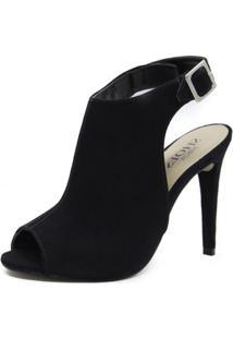 Sandália Shoes Inbox Sandal Boot Salto Fino Feminina - Feminino-Preto