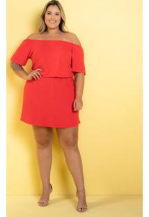 Vestido Ciganinha Myra Vermelha Plus Size