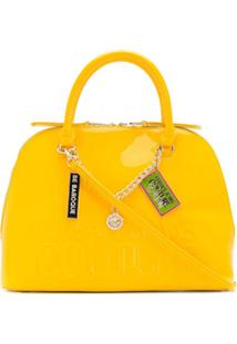 Versace Jeans Couture Bolsa Tote Com Gravação De Logo - Amarelo