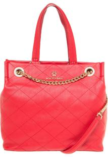 Bolsa Ana Hickmann Grande Handbag Vermelho