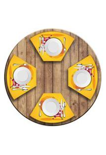 Jogo Americano Para Mesa Redonda Wevans Cute Noel Yellow Love Decor