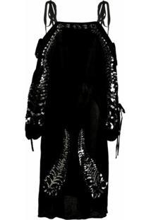Prada Vestido De Seda - Preto