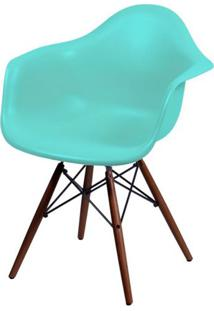 Cadeira Eames Com Braco Base Escura Verde Tifanny Fosco - 44885 Sun House