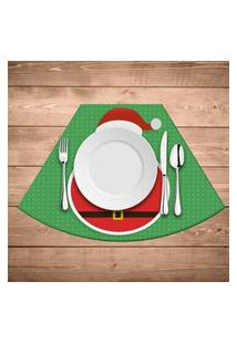 Jogo Americano Para Mesa Redonda Wevans Feliz Natal Kit Com 4 Pçs