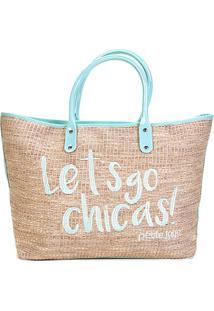 Bolsa Petite Jolie Shopper Sam Bag Feminina - Feminino-Verde Água