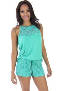 Pijama Inspirate Tecido Em Crochê Verde