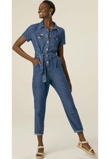 Macacão Azul Feminino Jeans