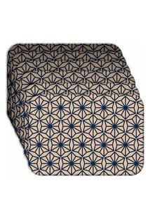 Jogo Americano - Love Decor Geometric Blue Kit Com 4 Peças