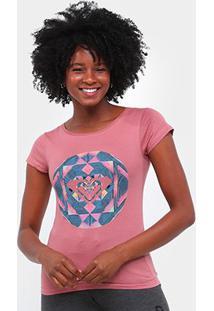 Camiseta Roxy Color Explosion Feminina - Feminino-Rosa