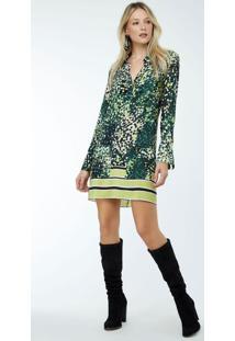 720cdf81b4 Vestido Animale Verde feminino