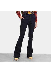 Calça Jeans Bootcut Morena Rosa Cintura Média Feminina - Feminino