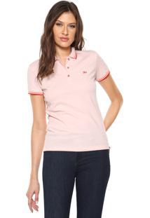 Camisa Calvin Klein Jeans Reta Logo Rosa