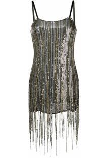 Amen Sequinned Mini Dress - Prateado