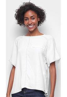 Camiseta Forum Contornos Feminina - Feminino-Areia