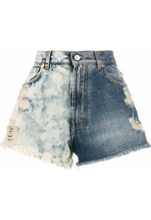 Givenchy Bermuda Jeans Bicolor Destroyed - Azul