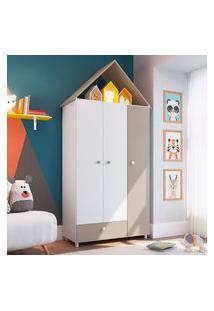 Guarda Roupa Infantil Art In Móveis Ch040 Children House 3 Portas Branco