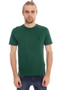 Camiseta Aleatory Lisa Masculina - Masculino-Verde Escuro