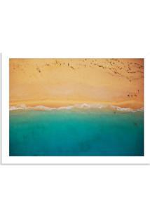 Quadro Decorativo Praia E Areia Branco - Grande
