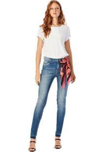 Calça Iódice Skinny Cós Alto Média Jeans Feminina - Feminino