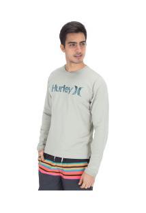 Camiseta Manga Longa Hurley Especial One&Olnly - Masculina - Cinza Claro