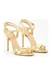 Sandália Gold Ateen Feminina - Feminino-Dourado