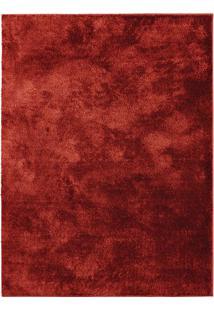 Tapete Tufting New Silk- Vermelho Escuro- 150X100Cm