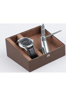 Kit De Relógio Analógico Mondaine Masculino + Pulseira - 99371G0Mvnh1Ka Prateado - Único
