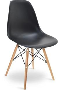Cadeira Eames Dkr Wood Preto - Preto - Dafiti