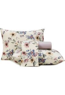 Jogo De Cama Casal Altenburg Malha In Cotton 100% Algodão Gran Botanic - Bege Bege