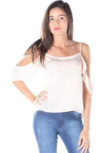 Blusa Com Vazados - Rosa Clarodwz