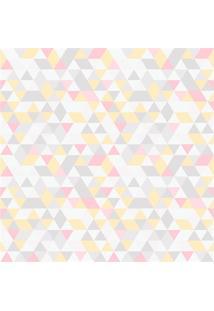 Papel De Parede 7447 Amarelo E Rosa 52Cm Com 10 Metros