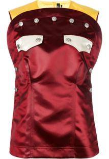 Calvin Klein 205W39Nyc Blusa Com Bolsos - Marrom