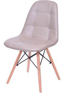 Cadeira Eames Botone Fendi Base Madeira - 43609 - Sun House