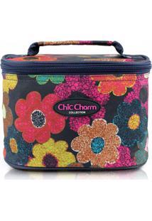 Necessaire Médio Jacki Design Chic Charm Floral