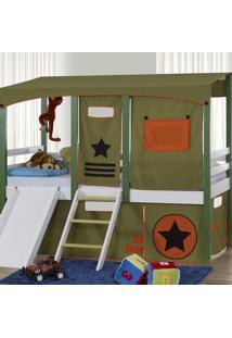 Cortina Tenda Army Para Cama Infantil Camping Casatema