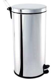 Lixeira Inox C/ Pedal E Balde 30L - Brinox - Inox
