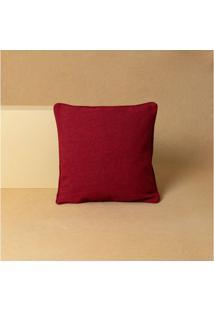 Capa De Almofada Lisa Doha Cor: Vermelho - Tamanho: Único