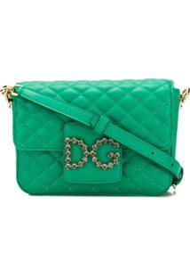 Dolce & Gabbana Bolsa Transversal Dg Millennials De Couro - Verde