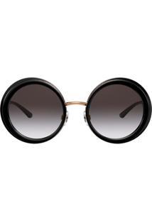 Dolce & Gabbana Eyewear Óculos De Sol Redondo Oversized - Preto