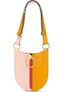 Marni Bolsa Tiracolo Color Block De Couro - Amarelo