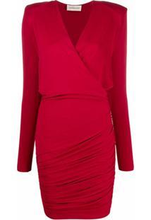 Alexandre Vauthier Vestido Envelope Slim - Vermelho