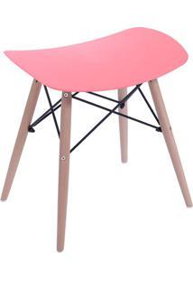 Banqueta Eames Dkr- Vermelha & Bege- 46X47X53Cm-Or Design