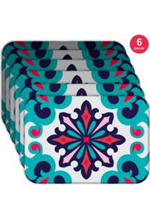 Jogo Americano Love Decor Wevans Mandala Color Kit Com 6 Pçs