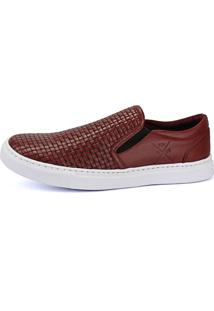Sapatênis Rebento Slip On Flatform Bordô
